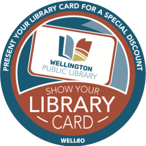 Show Your Library Card for a special discount