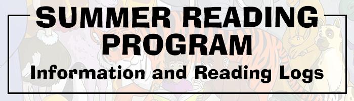 Summer Reading Program information and reading logs
